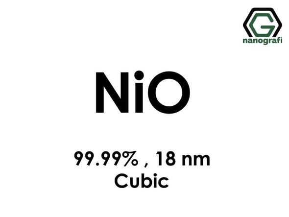 NiO(Nikel Oksit) Nanopartikül, Kübik, 18nm, Yüksek Saflıkta 99.99%