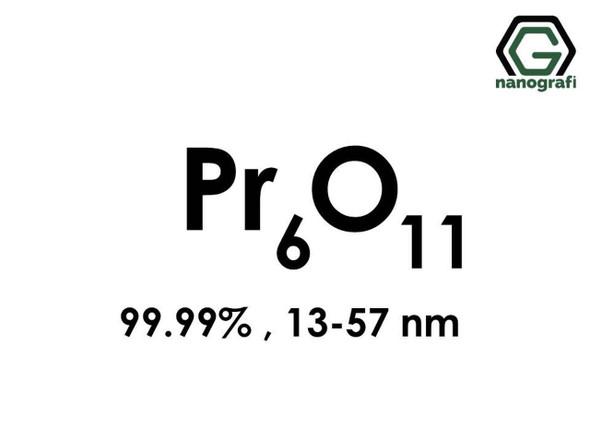 Pr6O11(Praseodimyum Oksit) Nanopartikül, 13-57nm, Saflık 99.99%