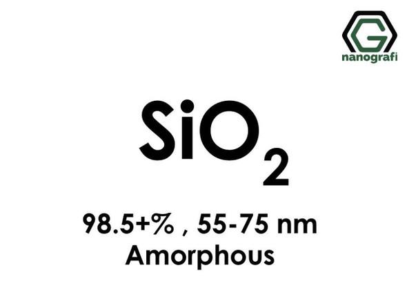 SiO2(Silikon Dioksit) Nanopartikül, 55-75nm, Saflık 98.5+%, Amorf