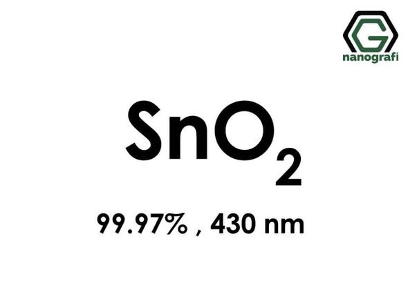 SnO2(Kalay Dioksit) Nanopartikül,, 430nm, Saflık 99.97%