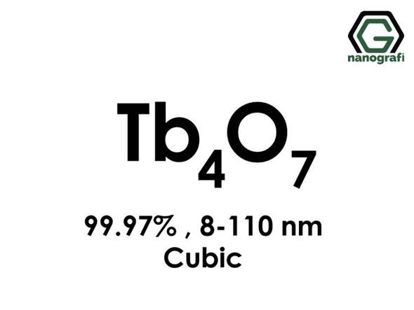 Tb4O7(Terbiyum Oksit) Nanopartikül,, 8-110nm, Saflık 99.97%, Kübik