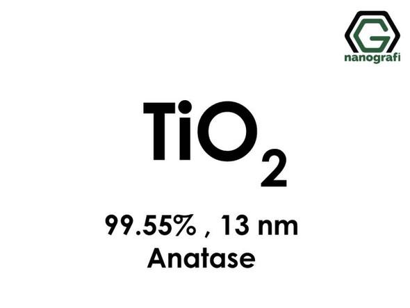 TiO2(Titanyum Dioksit) Nanopartikül , 13nm, Saflık 99.55%, Anataz