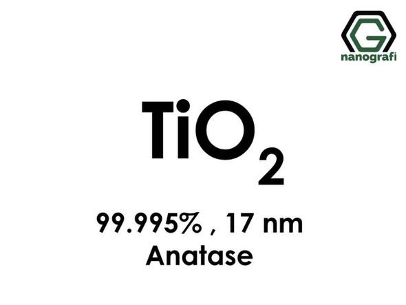 TiO2(Titanyum Dioksit) Nanopartikül , 17nm, Saflık 99.995%, Anataz