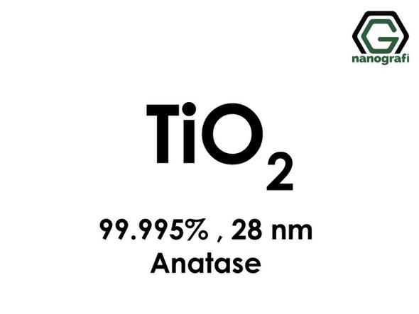TiO2(Titanyum Dioksit) Nanopartikül , 28nm, Yüksek Saflıkta 99.995%, Anataz