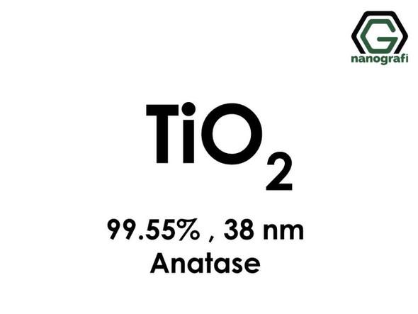 TiO2(Titanyum Dioksit) Nanopartikül , 38nm, Saflık 99.55%, Anataz
