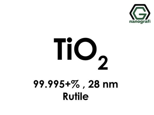 TiO2(Titanyum Dioksit) Nanopartikül , 28nm, Yüksek Saflıkta 99.995+%, Rutil