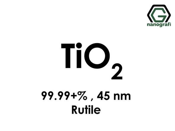 TiO2(Titanyum Dioksit) Nanopartikül , 45nm, Yüksek Saflıkta 99.99+%, Rutil
