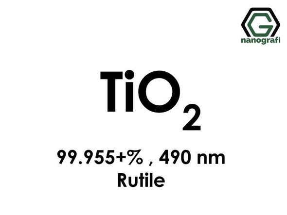 TiO2(Titanyum Dioksit) Nanopartikül , 490nm, Yüksek Saflıkta 99.955+%, Rutil