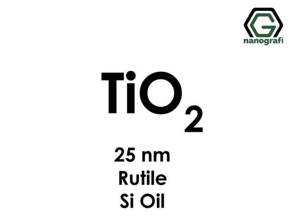 TiO2(Titanyum Dioksit) Nanopartikül , Rutil Si Oil, 25nm