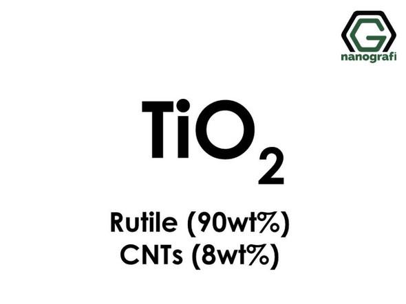 TiO2(Titanyum Dioksit) Nanopartikül -Rutil 90%ağ, KNT'ler 8%ağ