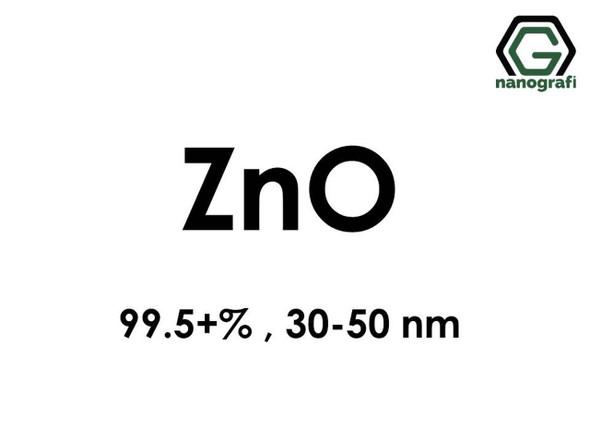 ZnO(Çinko Oksit) Nanopartikül, 99.5+%, 30-50nm