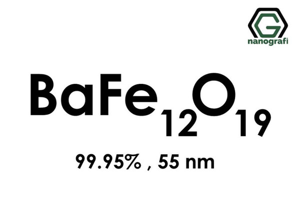 BaFe12O19(Baryum Demir Oksit) Nanopartikül, 99.95%, 55nm