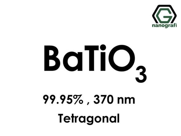 BaTiO3(Baryum Titanat) Nanopartikül, 99.95%, 370nm, Tetragonal