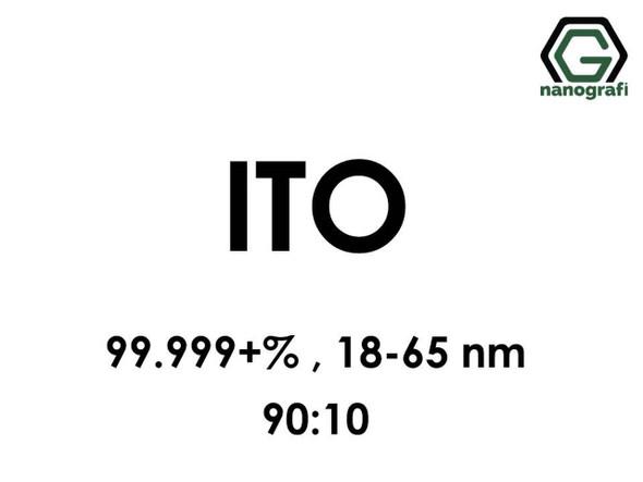 ITO(İndiyum Kalay Oksit) Nanopartikül, 90:10, 99.999+%, 18-65nm