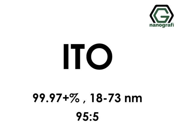 ITO(İndiyum Kalay Oksit) Nanopartikül, 95:5, 99.97+%, 18-73nm