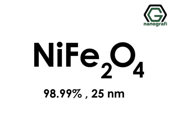 NiFe2O4(Nikel Demir Oksit) Nanopartikül, 98.99%, 25nm