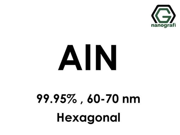 AlN(Alüminyum Nitrit) Nanopartikül, 99.95%, 60-70nm, Hekzagonal