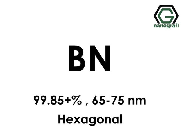 BN Nanopartikül(Bor Nitrür) 99.85+%, 65-75nm, Hekzagonal