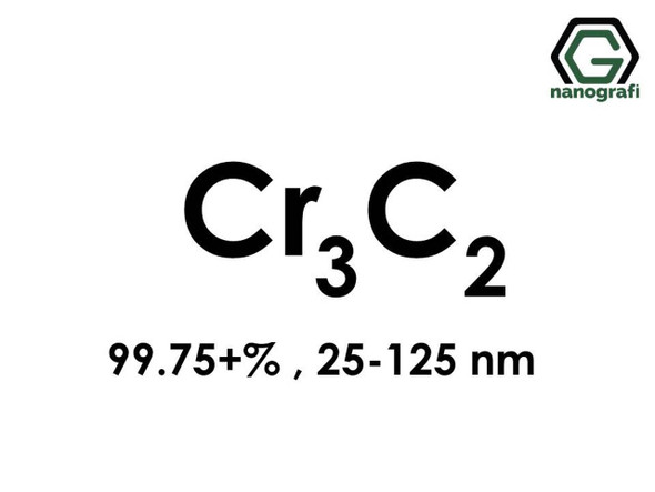 Cr3C2(Krom Karbür) Nanopartikül, 99.75+%, 25-125nm