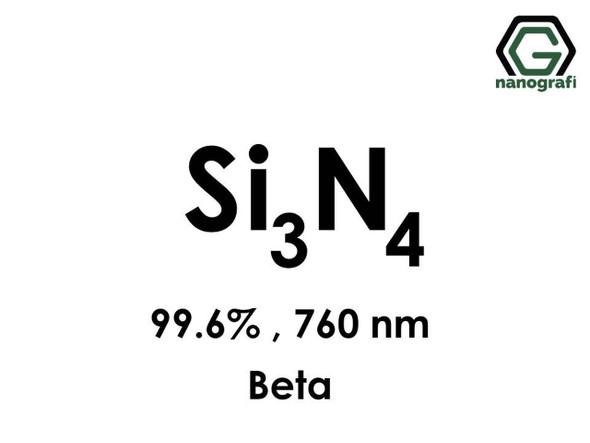 Si3N4(Silikon Nitrit) Nanopartikül, Beta, 99.6%, 760nm