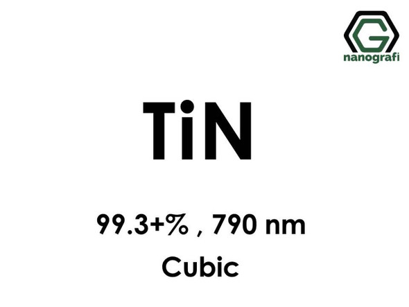 Titanyum Nitrür (TiN) Nano Tozu, Saflık: 99.3+%, Boyut: 790 nm, Kübik