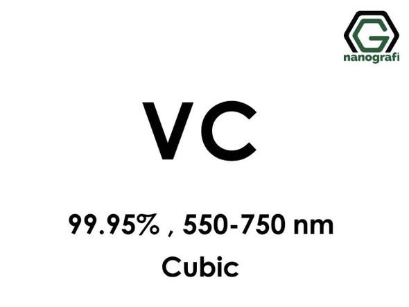 VC(Vanadyum Karbür) Nanopartikül, 99.95%, 550-750 nm, Kübik