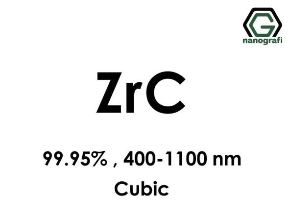 ZrC(Zirkonyum Karbür) Nanopartikül, 99.95%, 400-1100 nm, Kübik