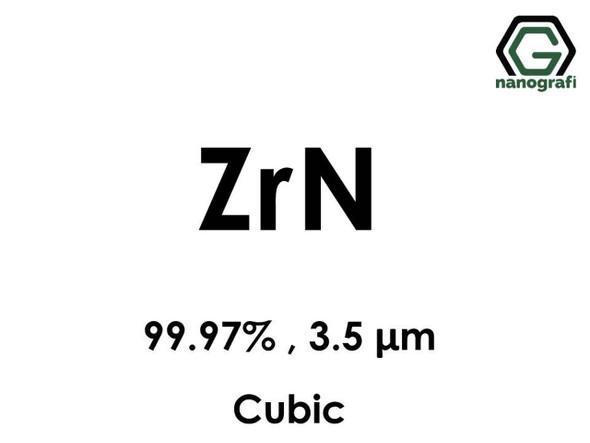 ZrN(Zirkonyum Nitrit) 99.97%, 3.5 um, Kübik