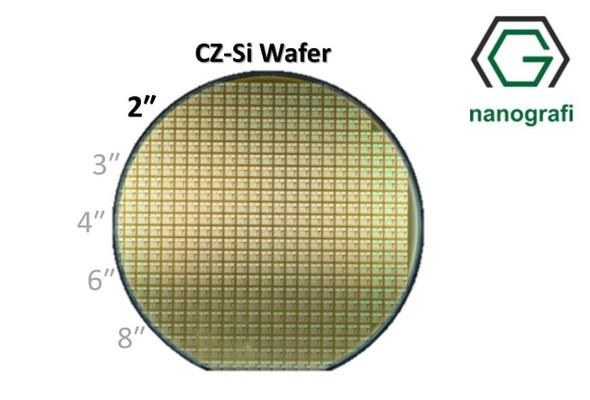 Prime CZ-Si Wafer/Altaş, 2‰″,(100), Bor Katkılı, 1-10 (ohm.cm),2 Yüzeyi Parlatılmış, 2000 ± 50 um