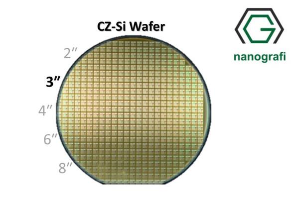Prime CZ-Si Wafer/Altaş, 3‰″,(100), Bor Katkılı, 1-10 (ohm.cm),1 Yüzeyi Parlatılmış, 381 ± 25 um