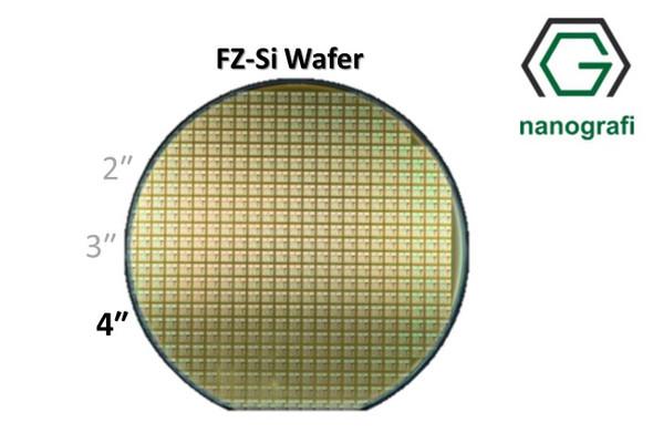 Prime FZ-Si Wafer/Altaş, 4‰″,(100), Bor Katkılı, 2000 - 4000 (ohm.cm),1 Yüzeyi Parlatılmış, 300 ± 10 um