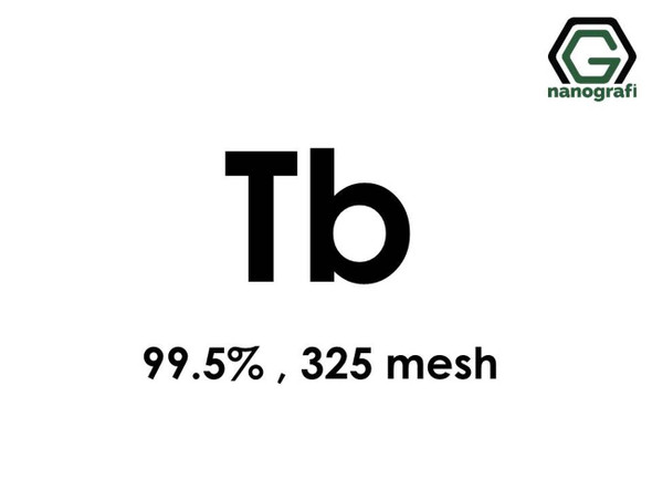 Tb(Terbiyum) Toz, 325 mesh , 99.5 %
