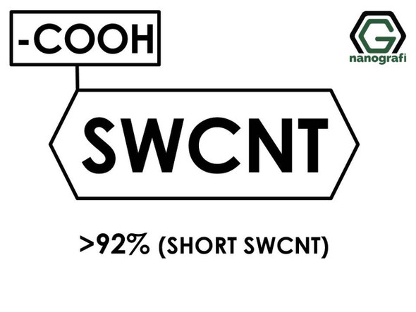 (-COOH) Fonksiyonlaştırılmış Kısa Tek Duvarlı Karbon Nanotüp, Saflık >92%