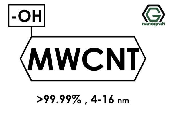 (-OH) Fonksiyonlaştırılmış Grafitleştirilmiş Çok Duvarlı Karbon Nanotüp (Saflık > 99.99%, Dış Çap: 4-16nm)