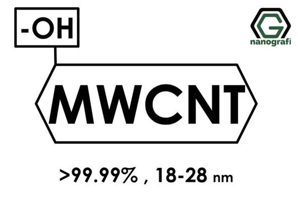 (-OH) Fonksiyonlaştırılmış Grafitleştirilmiş Çok Duvarlı Karbon Nanotüp (Saflık > 99.99%, Dış Çap: 18-28nm)