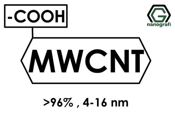 (-COOH) Fonksiyonlaştırılmış Çok Duvarlı Karbon Nanotüp (Saflık > 96%, Dış Çap: 4-16nm)