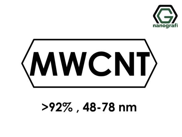 Endüstriyel Kalite Çok Duvarlı Karbon Nanotüp (Saflık > 92%, Dış Çap: 48-78nm)