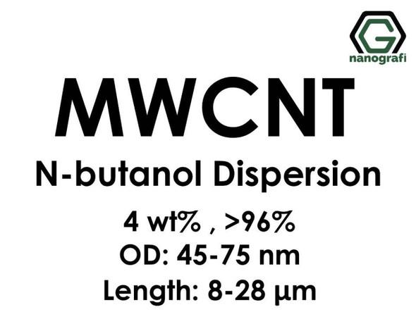 Çok Duvarlı Karbon Nanotüp N-Bütanol Dispersiyon (4%ağ, >96+%, Dış Çap: 45-75 nm, Boy 8-28um)