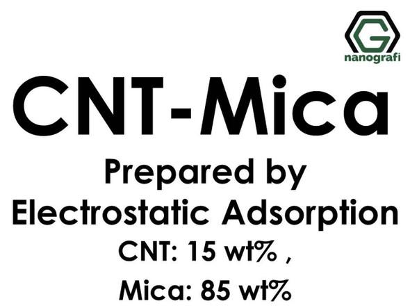Karbon Nanotüp- Mika Elektrostatik Adsorbsiyon ile Hazırlanmış (KNT'ler 15%ağ; Mica 85%ağ)