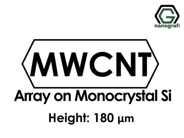 Çok Duvarlı Karbon Nanotüp - Monokristal Silikon Üzerinde Sıralanmış, Yükseklik: 180um