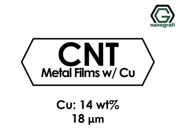 Karbon Nanotüp Metal Film - Bakır Katılı 14%ağ, Kalınlık 18 um