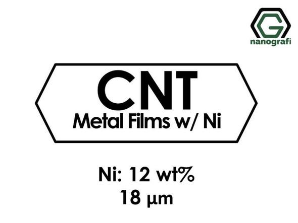 Karbon Nanotüp Metal Film - Nikel Katılı 12%ağ, Kalınlık 18 um