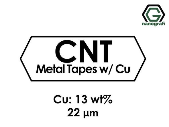 Karbon Nanotüp Metal Bant - Bakır Katılı 13%ağ, Kalınlık 22 um