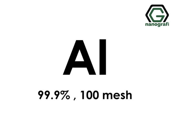 Al(Alüminyum) Micron Toz, 100 Mesh, 99.9 %
