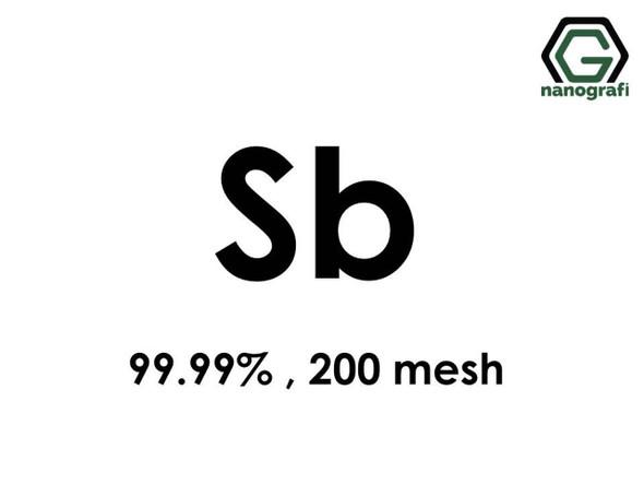 Sb(Antimon) Micron Toz, 200 mesh, 99.99 %