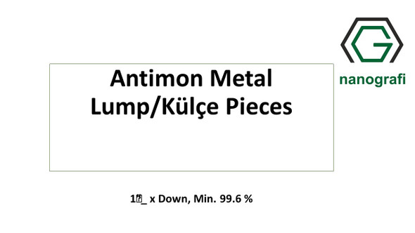 Antimon Metal Lump/Külçe Pieces, 1‰″_ x Down, Min. 99.6 %