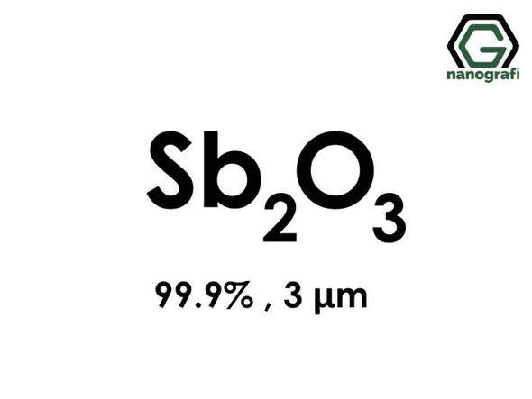 Sb2O3(Antimon Trioksit) Mikron Toz, 3 Micron, 99.9%