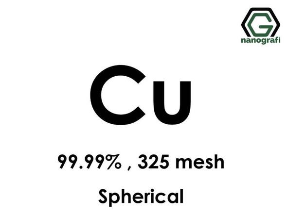 Cu(Bakır) Mikron Toz(Küresel), 325 mesh, 99.99 %