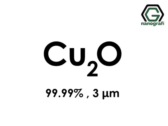 Cu2O(Bakır Oksit) Mikron Toz(Black), 3 Micron, 99.99 %