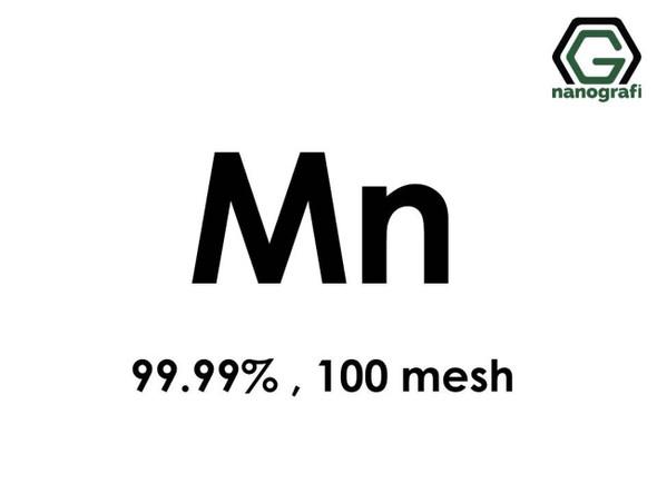Mn(Mangan) Mikron Toz,100 Mesh, 99.99 %